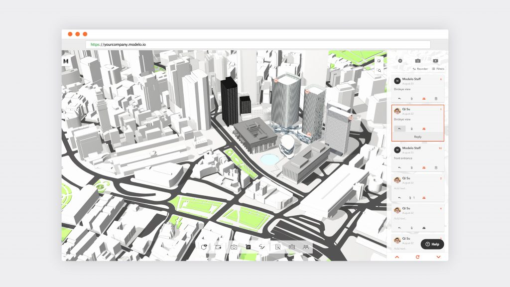 Add comments to any area of your 3D model in Modelo for ultimate collaboration.