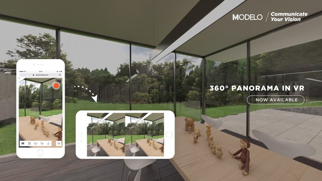 Bring 360º panorama images into VR with the click of a button for an immersive experience